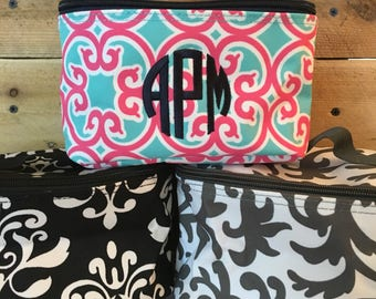 Monogrammed Cosmetic Bag - Embroidered Cosmetic Bag