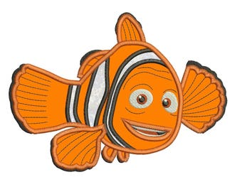 Marlin Finding Nemo Applique Design 3 sizes Instant Download