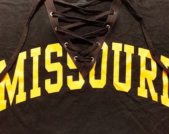 Lace Up College Shirt