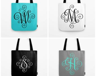Monogram Tote Bag Personalized Gift For Friend, Bride To Be Gift For Her, Custom Travel Bag, Initial Tote Bag Bridesmaid Gift Ideas