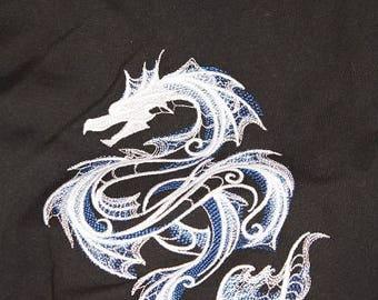 Embroidered sweatshirt, dragon, M