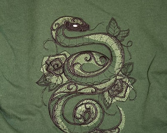 Embroidered Sweatshirt, Snake, L