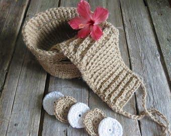 Spa set gift basket for bath sauna spa kit gift set mom knit washcloth spa gift set face scrubbies organic washcloths for sauna natural jute
