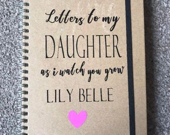 Personalised Letters to my daughter or son A5 lined journal diary notebook