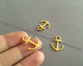 wholesale 100Pieces /Lot 19mmx15mm Nautical Small Anchor Charms (#0320)