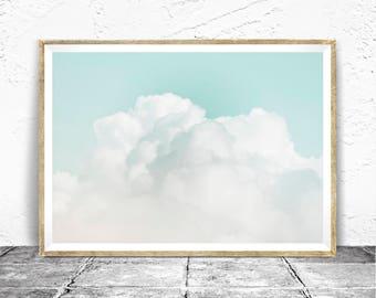 Cloud Print - Baydreem. Cloud Wall Art Cloud Printable Cloud Poster Cloud Art Cloud Photography Cloud Printable Download Minimalist Clouds