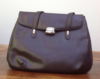 Vintage 90s Shoulderbag//textured leather bag//90s vintage Bag//Vintage leather bag//Vintage Made in Italy