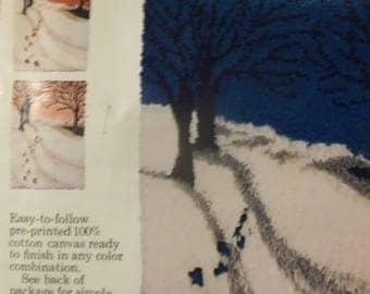 """Caron Latch Hook Pattern - Winter Scene 24"""" X 34"""""""