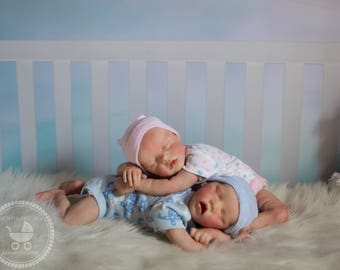 Reborn Hand painted Twins   Twin A or Twin B   by Bonnie Brown w/COA