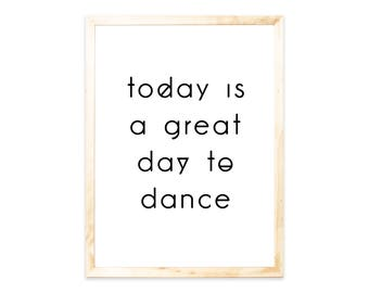 Poster, quote, dance, dancing, saying, quote