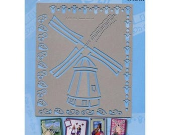Stencil card mill Holland embossing stencil