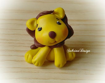 Lion favor, baptism baby shower favors, birthday favors, animals favors, animals cake topper, safari cake topper