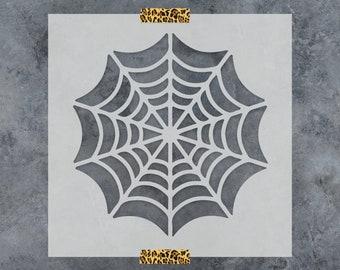 Spider Web Stencil - Reusable DIY Craft Stencils of a Spider Web