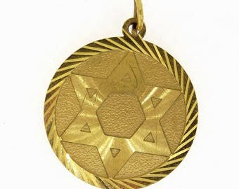 9 Crt Gold Star of David Pendant