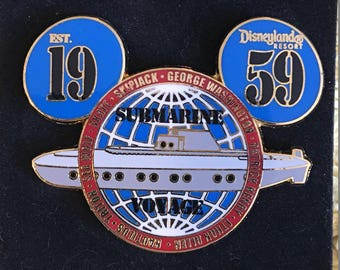 Disneyland 1959 Submarine Voyage Ears Disney Pin 32385