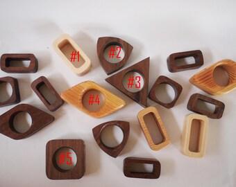 Geometrical shape napkin rings, set of 4, 6, 12, or 24