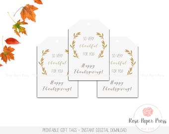 Thanksgiving Gift Tags | Thanksgiving Favor Tags | Thanksgiving Labels | Thanksgiving Tags | Instant Download | Holiday Tags | Teacher Gift