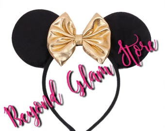 Mickey & Minnie Gold  Ears 1 Pair Only! One size fits all!