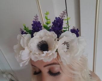 Flower Crown, Flower Tiara, Wedding Tiara