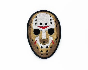 Jason Voorhees Patch, Jason Voorhees Mask Patch, Friday the 13th Mask, Friday the 13th Patch, Modern Monster, Horror Movie Patch, Cult Movie