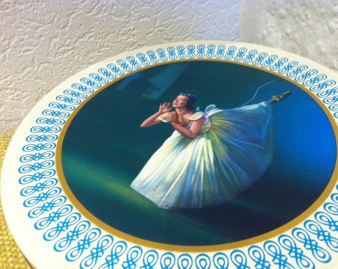 Vintage tin can decoration beautiful deco woman dance