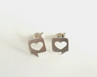 "Earrings ""I say: Love!"""