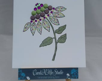 Blank female floral card