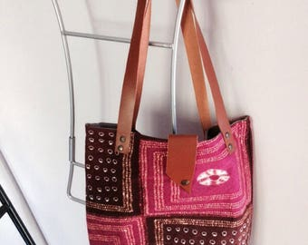recycled printed cotton tote
