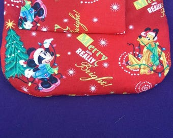 christmas cosmetic bag with tissue holder