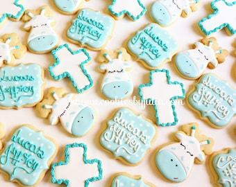 Baptism favors/christening cookies // baptism gifts // baptism // christening favors // christening/baby boy/custom cookies