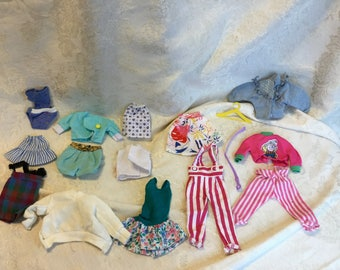 Vintage 1980's Barbie and Generic Fashion Doll Clothing