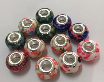 Colorful beads for charm bracelets lot