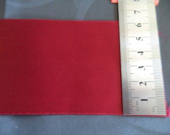 Red satin ribbon double sided width 6 cm new great quality