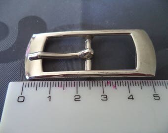 belt buckle in silver metal width from 1.5 cm new