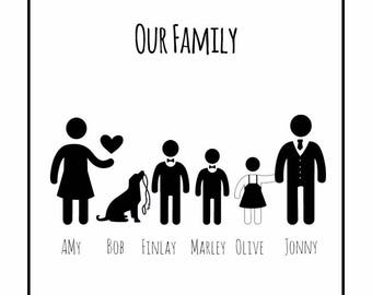 Personalised Family Framed Prints