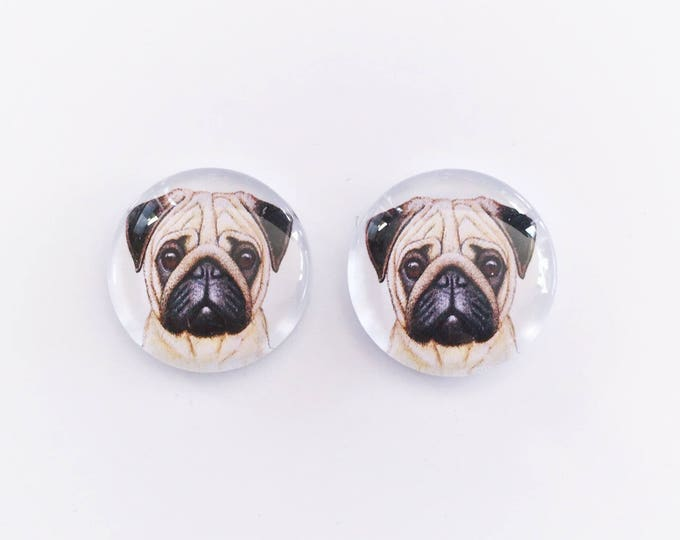 The 'Pug Life' Glass Earring Studs