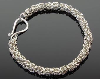 Handmade Byzantine Chainmaille Bracelet