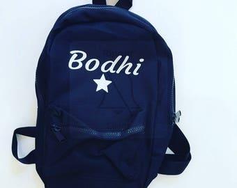 Mini backpack, personalised backpack, toddler backpack, small bag, nursery bag, preschool bag, kids backpack, name bag, kids birthday gift