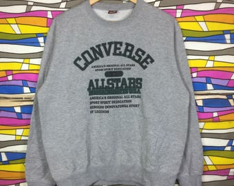 Rare!! CONVERSE ALL STAR Sweatshirt Spellout Big Logo