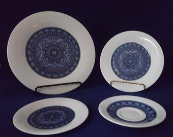 Royal Doulton Babylon Salad Plates, Bread & Butter Plates, Tea Saucers, Set of 2 ~ Vintage 1973-1978