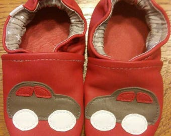 soft leather slippers car