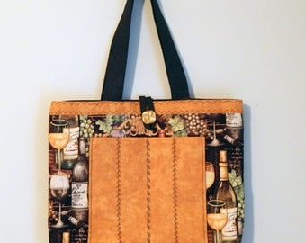 Wine-themed Tote Bag