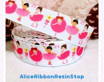 """3 yards 7/8"""" Ballerina ribbon, Ballet ribbon, Ballet hair bow ribbon, craft ribbon supply"""