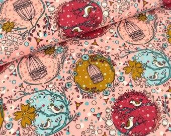 Birdy pink Cotton Jersey (13.20 EUR / meter)