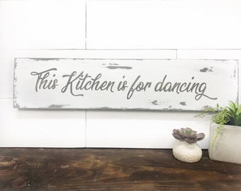 Kitchen Wood Sign Etsy