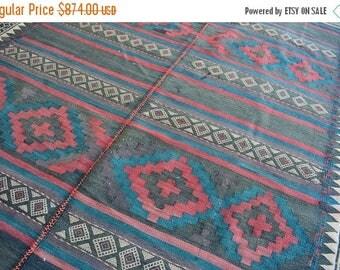 SALE 45% OFF Vintage Handmade Tribal Afghan wool rug
