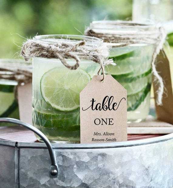 editabble table numbers for wedding