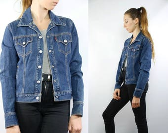 Levis Denim Jacket / Levis Jean Jacket / Blue Levis Jacket / Levis Denim / Vintage Levis / Dark Blue Denim / Denim Jacket / Jean Jacket