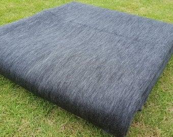 Alpaca Blanket/Throw Gray, Made in Ecuador