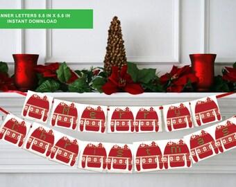 Ugly Christmas sweater - Ugly Christmas decor - Ugly Sweater banner -tacky Christmas sweaters, Christmas Party, Holiday PRINTABLE